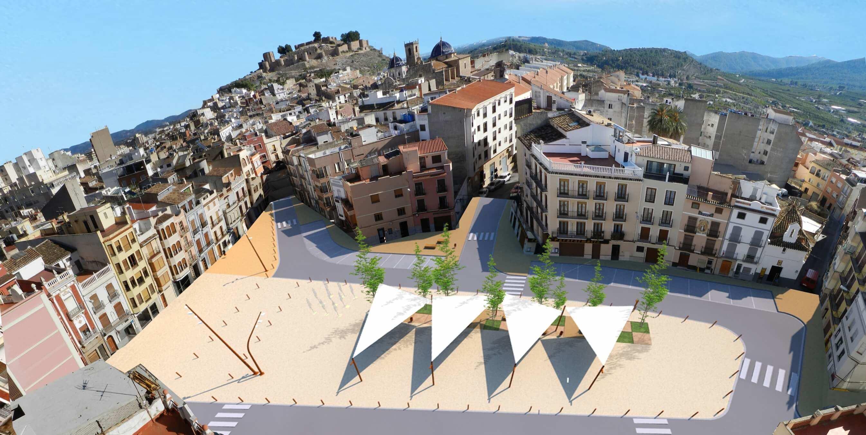 Gmg arquitectos castell n plaza del raval de sant josep onda concurso gmg arquitectos - Toldos galindo ...